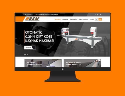Bsm Makine Kurumsal Website Tasarımı